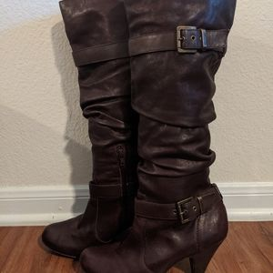 Jessica Simpson Brown Leather Boots size 9.5